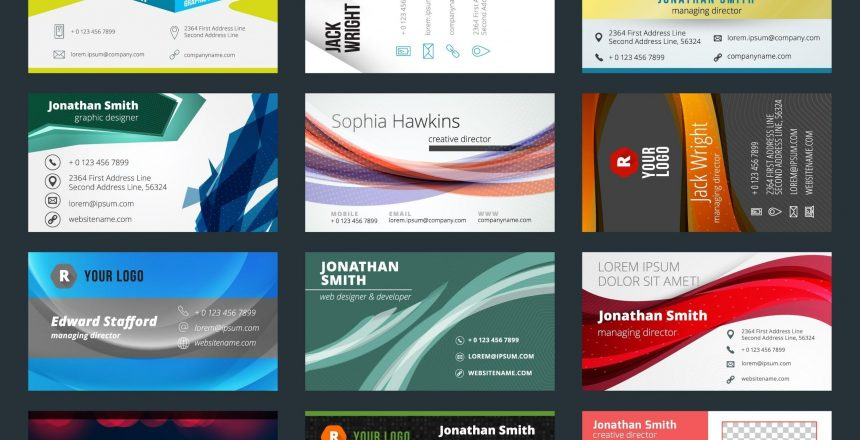 Variety of business cards